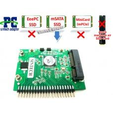 mSATA SSD to 2.5-Inch IDE Card
