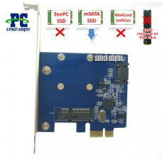 PCI-e mSATA+SATA 3 SSD Controller Card