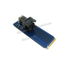U.2 SSD Mini SAS SFF-8643 to M.2 Key-M card