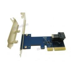 U.2 SSD Mini SAS SFF-8643 to PCIe 4X card