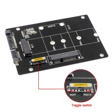 M.2 KEY-B or mSATA SSD to SATA-3 card