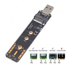 USB 3.0 M.2 nVME Or SATA SSD Card
