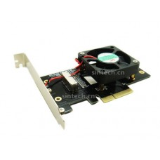 2013-2015 MacBook Air+PRO SSD to PCI-e 4X adapter Card With Fan
