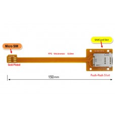 Micro SIM to SIM Card Extension cable 15cm