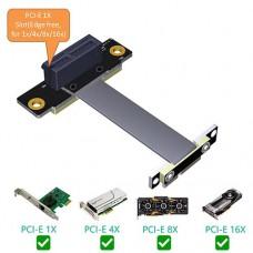 PCI-E express X1 riser flex cable 10CM Angled