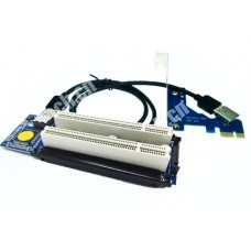 PCI-E express X1 to dual PCI riser card With USB cable