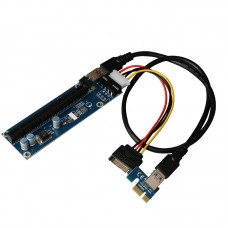 PCI-e express 1X to 1X/16x Riser cable with Molex power