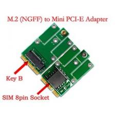 M.2 (NGFF) 2G/3G Module to mini PCI-E Card for CDMA GPS LTE
